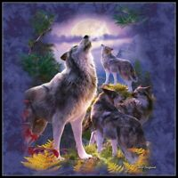 Wolfpack Moon - DIY Chart Counted Cross Stitch Patterns Needlework DMC Color
