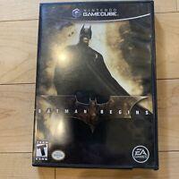 NINTENDO GameCube BATMAN BEGINS Complete CIB Manual Wii FAST SHIPPED
