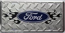 ford tough tag truck emblem license plate diamond flame sign logo design oficial