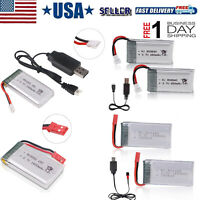 3.7V Lipo Battery 25C JST/ XH2.54 Plug with USB Charger for RC Quadcopter Drone