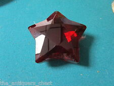 """Rosenthal red Ruby Star Crystal Paperweight 3 1/2"""""""