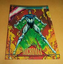 Micromax # 38 - 1993 Marvel Universe Series 4 Base Trading Card