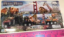 SAN FRANCISCO ZOO TOY TRACTOR TRAILER BIG RIG FEATURING S.F. ZOO LOGO NEW IN BOX