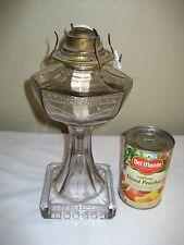 Antique Greek Key Glass Oil Kerosene Lamp