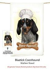 "Coonhound Blue Tick Dog 29'' x 29"" Flour Sack Towels, Bone-Appetite !"