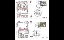ALT BERLIN 1963 2x ERSTTAGSBRIEF FDC MINR 220 + 222 ERSTAUSGABE GESTEMPELT