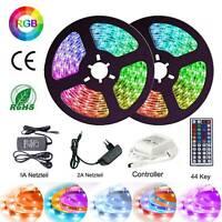 RGB LED Stripe Streifen 5m 10m 20m Band 5050 Lichtleiste Fernbedienung Trafo