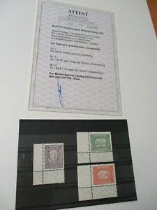 """Deutschland """"Lokalausgaben"""" ASCHAFFENBURG 1946 Nr. I-III **postfr. / RS / Attest"""