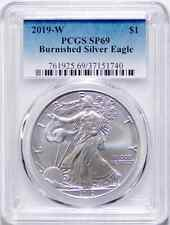 2019-W Burnished American Silver Eagle SP69 (Uncirculated) 19EG