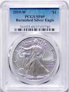 2019 W Burnished American Silver Eagle SP69 (Uncirculated) 19EG