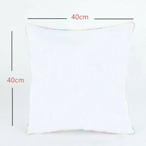 3D Sublimation White Blank Pillow Case Cushion Cover for DIY Heat Press Printing
