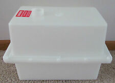 White Thick Plastic Vent Top Battery Box RV Camper Boat Foam Strip Vapor Barrier