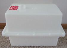 White Thick Plastic Vent Top Battery Box RV Camper Boat Foam Strip Vapor Barrier