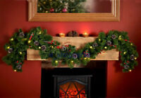New Style Christmas Decoration lights Pre-Lit Garland with Cones and berries 6ft