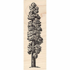 Redwood Tree Beeswax Rubber Stamp Mounted Scenic Landscape