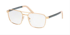 Prada Eyegalsses PR53XV 5AK101 52 Gold Gray Optical Frame