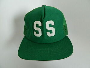 Vintage New Era Dupont Visor Green Trucker Hat Adj. Baseball Hat Made in USA