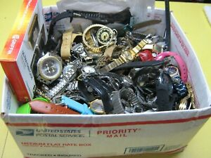 Nice 13 Pound Lot of Untested Watches for Parts, Repair, Resale or Wear - T2