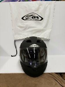 ZOX ST-11114 BRIGADE SVS MATTE BLACK MODULAR MOTORCYCLE HELMET NEVER USED