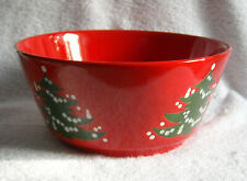 "Red Christmas Tree Waechtersbach Ceramic bowl 9"" across West Germany"