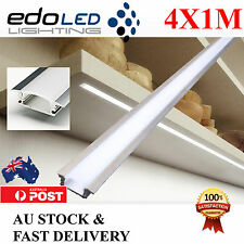 4X1M Edge Alloy channel Aluminium bar Led Strip Light Cabinet Kitchen Bathroom