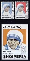 Albanien postfrisch MiNr. 2589-2590 und Block 107  Berühmte Frauen Mutter Teresa