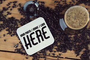Personalised Printed Photo Coaster with Custom Text and Font