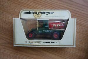 """Matchbox Models Of Yesteryear 1912 Ford Model T """"BP"""""""