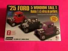 1925 FORD 5 WINDOW TALL T COUPE MODEL KIT LINDBERG 1/24 SCALE NEW SEALED LOOK!!