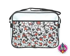 DISNEY MICKEY MOUSE REPEAT PRINT RETRO SHOULDER MESSENGER SPORT SCHOOL BAG BNWT