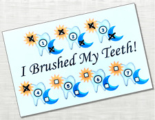 Teeth Cleaning Chart, Track morning / evening brushings, weekly dry erase chart