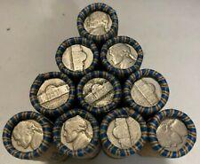 Jefferson Nickel Rolls 40 Nickels 1938-1964 US Coins Silver War Nickels Included