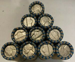 Jefferson Nickel Rolls 40 Nickels 1938-1964 US Coins Silver War Nickels Included