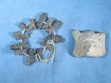 AZTEC Terra Cotta Pre-Columbian Sculpture Relic & 12 Mini-Figure Bracelet