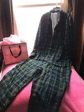 Victoria's Secret Green Plaided Cotton 2pc Pajama Set XL NWOT