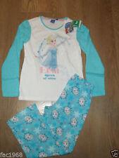 Bas de pyjama bleu pour fille de 2 à 16 ans en 100% coton