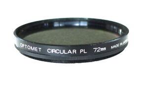 72mm Optomet Circular PL Polarizing Filter - C-PL Polarizer - PERFECT