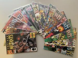 Lot Of 17 Marvel Comic Books The New Mutants 1985-1987