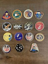 Set of 15 Vintage Metal NASA Coins / Medals / Tokens in Color Great Collection!
