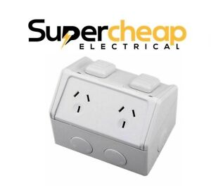 Weatherproof Power Point Outlet Socket Weather GPO  External Outdoor 10AMP