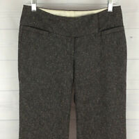 Maurices Womens Size 1/2 Short Textured Gray Speckled Wide Dress Career Pants
