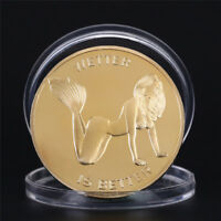 Lady Girl Coins Novelty Gold Plated Commemorative Challenge Coin Art Gifts  AB