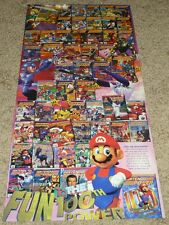 NINTENDO POWER MAGAZINE POSTER - NES, SNES, Game Boy, N64, 100th Issue
