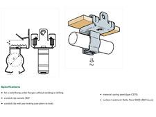 10 x britclips Universal Beam Clip/Combinazione di tubo protettivo di bloccaggio HM100L