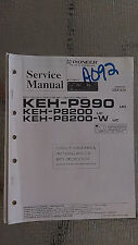 Pioneer keh-p990 p8200 w service manual original repair book stereo radio car