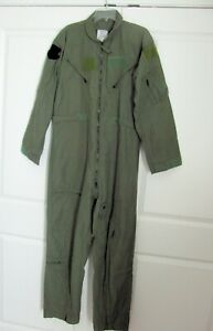 US Military Pilot Coveralls 44R Flyers CWU-27/P Summer Flight Suit Sage Green