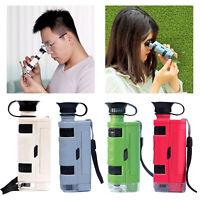 Mini Handheld 80x 120x Taschenmikroskop Lupe Lupe Vergrößerung