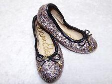 Sam Edelman Felicia Ballet Multi Chunky Girls 12 Ballet Flats Multicolor Glitter