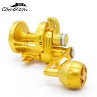 CAMEKOON Big Game Trolling Reel 77LBs Max Drag Saltwater Lever Drag Fishing Reel