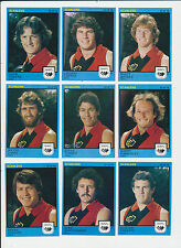 1982 Scanlens West Australian WAFL MINT Perth Team set 9 cards